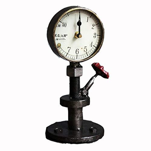 $ Digitale wekker Taiwan-klok smeedijzeren industriële stijl Amerikaanse land retro creatieve persoonlijkheid horloge/tafelklok/tafelklok