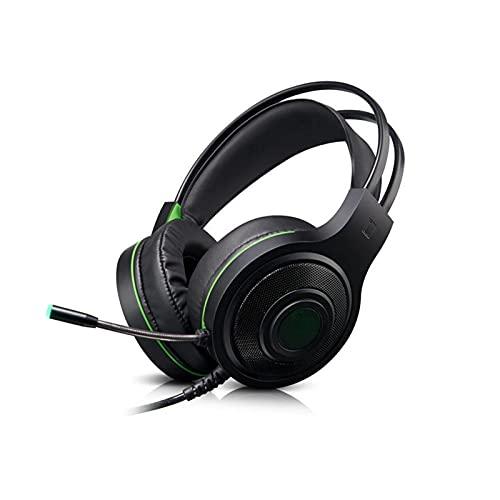 CZYNB Auriculares E-Sports Gaming Headset Computer Light Music Surround con Auriculares de Trigo Juegos