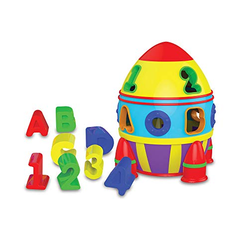The Learning Journey Early Learning - Rocket Shape Sorter - Toddler Toys & Gifts for Boys & Girls Ages 12 Months and Up - Award Winning Toy