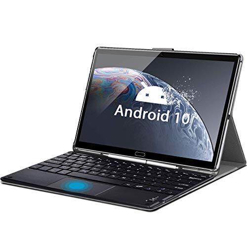 Tablet 10.8 Pulgadas Android 10, AOYODKG M6 Tableta 10-Core 2.3 GHz, 5G WiFi, 2560 * 1600 FHD+, 8000mAh, Cámara Dual 16.0+8.0 MP, 6GB+128GB, SD 512GB, Bluetooth 5.0/GPS/Face ID/OTG/Tpye-C-Gris
