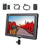 FEELWORLD FH7 7' Full HD Camera LCD Monitor 4K HDMI Output for Canon Nikon DSLR Camera, F550 Battery Kit Included