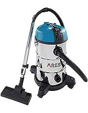 Arebos Industriële stofzuiger | blauw | 30 liter | 2300 W | met extra stopcontact | uitblaasfunctie | ideale natte droge stofzuiger | ook voor aszuigen