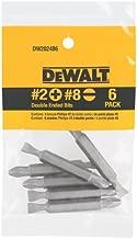 DEWALT Screwdriver Set, #2 Phillips / No. 8 Slotted Double Ended Bit, 6-Pack (DW2024B6)