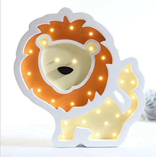 Bunte Schnecke Bär Pferd Löwe Stil Führte Nachtlicht Batterieleistung Nachttischlampe Neuheiten Lampe Holz Löwe