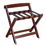 Tabineta de equipaje de madera, portaas de equipaje con maleta plegable, soporte de titulares de equipajes con estante...