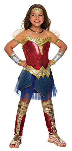 Rubie's Costume Girls Justice League Premium Wonder Costume, Small, Multicolor, 640004