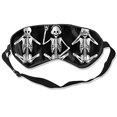 Funny Skull Quotes - Hear Some Evil Sleep Mask Women & Men with Adjustable Straps Sleeping 8.26