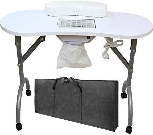 Nail Tabelle Folding Tragbare Manikürtisch mit Nagel-Staubsauger Und Beutel gelüftete Manikürtisch Nail Schreibtisch Salon Spa 0224