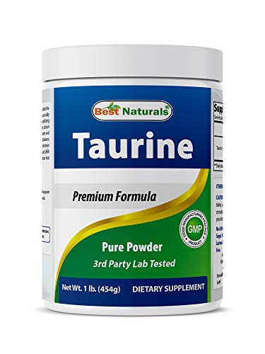 Best Naturals 100% Pure Taurine Powder Free Form - Taurine 1000mg per Serving - 1 Lb (454 gm)
