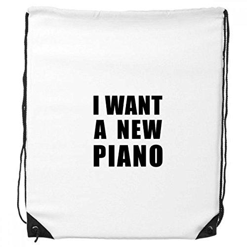 Ik wil een nieuwe Piano Trekkoord Rugzak Winkelen Gift Sport Tassen
