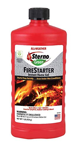 Sterno 20334 All- Weather Instant Flame Gel Fire Starter
