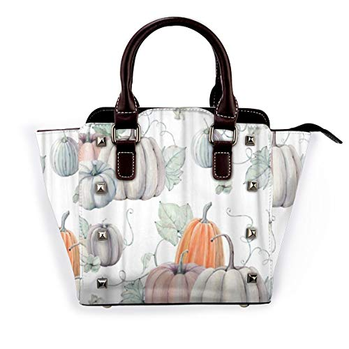 BROWCIN Aquarell Kürbisse Es ist perfekt für Thanksgiving Halloween Design Rezept Abnehmbare mode trend damen handtasche umhängetasche umhängetasche