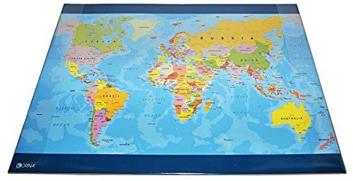 Orna 0302TRAGEO1 Bureau-onderlegger wereldkaart