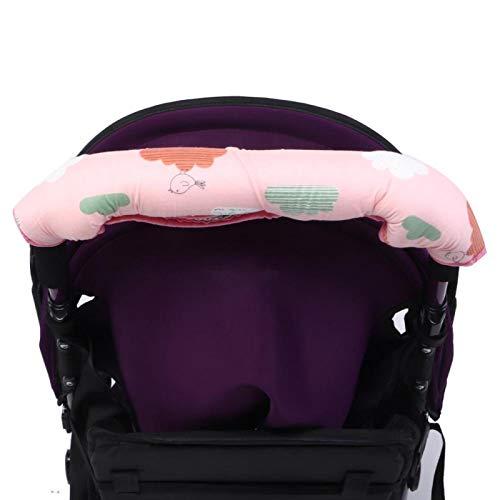 Funda de reposabrazos para cochecito suave con botones, adecuada para la mayoría de los cochecitos de bebé
