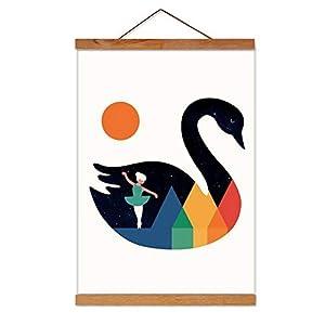 Marco de Fotos de Madera Magnética Cartel de Madera Natural DIY Picture Poster Obra de Arte para La Decoración del Hogar Pared de Teca (30cm)