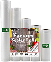 AMJ Vacuum Sealer Bags For Food Saver & Seal a Meal Vac Sealers, BPA Free, Heavy Duty Commercial Grade (5 xRoll)