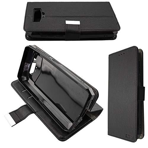 caseroxx Handy Hülle Tasche kompatibel mit Blackview BV9100 Bookstyle-Hülle Wallet Hülle in schwarz
