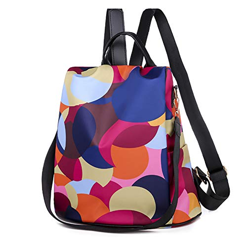 Back Pack Purse for Women Anti Theft Backpack Waterproof College Bookbag for Teen Girls Fashion Hiking Backpacks Travel Shoulder Bag Women Casual Crossbody Tote Bags Colorful Polka Dots