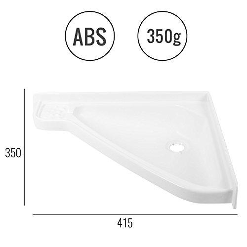 Klein, lavandino per roulotte e camper, 415x 350x 60mm (lunghezza x larghezza x spessore), colore: bianco, in plastica ABS