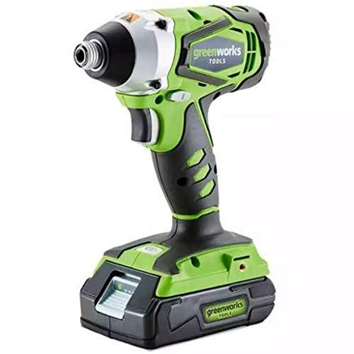 Greenworks Tools G24IW 3801207boulonneuse kabellos, Li-Ion, ohne Akku oder Ladegerät, 24V, grün, 24 V
