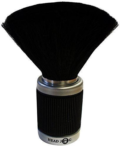Cepillo para el cuello con mango de goma, color negro, por Head Jog