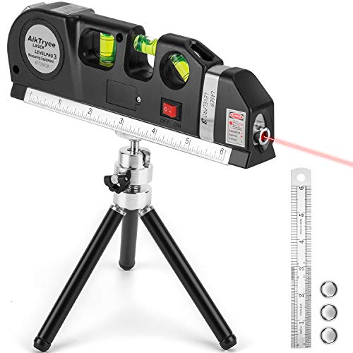 Laser Level Tool Multipurpose Laser Level Line Laser Kit With triangle bracket for Picture Hanging cabinets Tile Walls by AikTryee