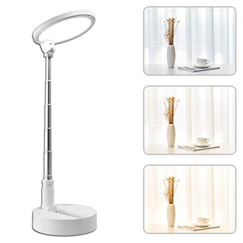 Schreibtischlampe Led, Mefine 54 Led Tischlampe Dimmbar, 3 Farb und 5 Helligkeitsstufen Tischleuchte, Touch-Bedienung, Faltbar