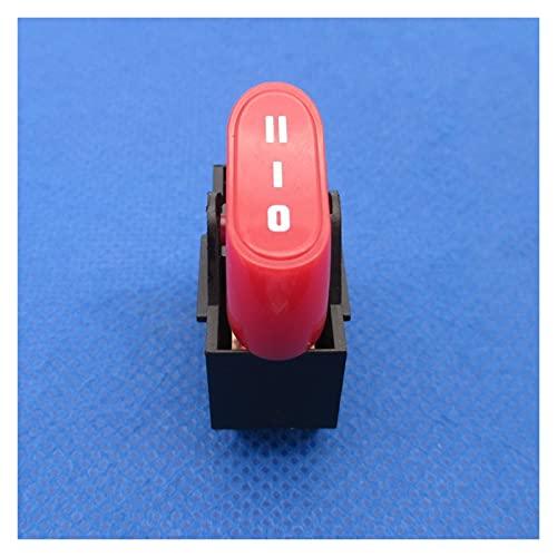 QHMDZ Interruptor basculante 2 PCS Interruptor de secador de Cabello Nuevo, Interruptor de balancín, 3 Posiciones Interruptor de embarcación Off ON ON 10A 250VAC 16A125VAC (Color : Red)