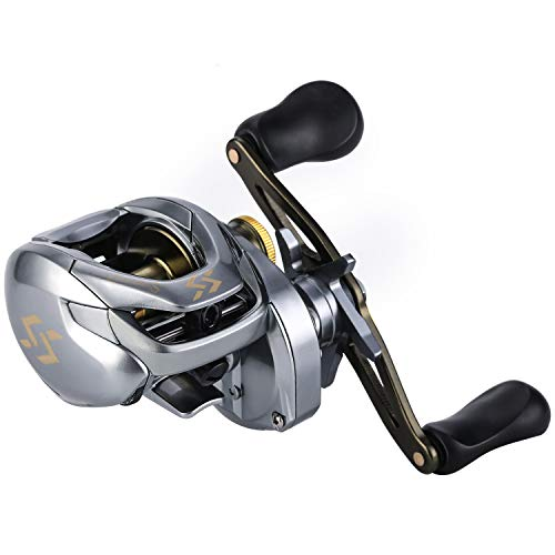 Sougayilang Fishing Baitcasting Reels, 17.64LBs Drag Powerful Baitcasters ,11+1Shielded Stainless-Steel Ball Bearings Fishing Reels,High Speed Two-Tone Aluminum Spool Baitcaster