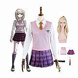 tggh Anime Danganronpa Kaede Akamatsu - Juego de uniformes para cosplay (color: A2, tamaño: XXL)