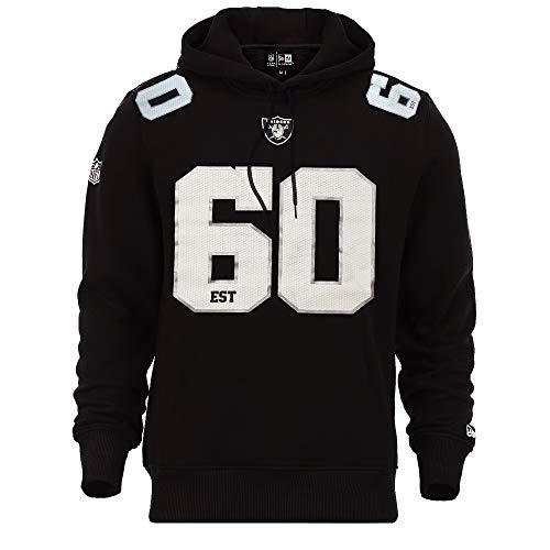 New Era Oakland Raiders NFL Established Number Hoodie Black - 3XL