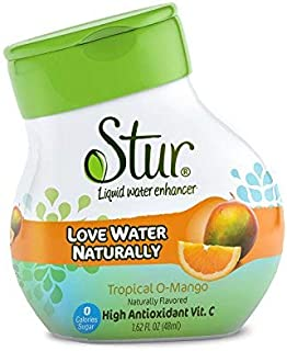 Stur - Orange Mango, Natural Water Enhancer, (5 Bottles, Makes 100 Flavored Waters) - Sugar Free, Zero Calories, Kosher, Liquid Drink Mix Sweetened with Stevia, 1.62 Fl Oz (Pack of 5)