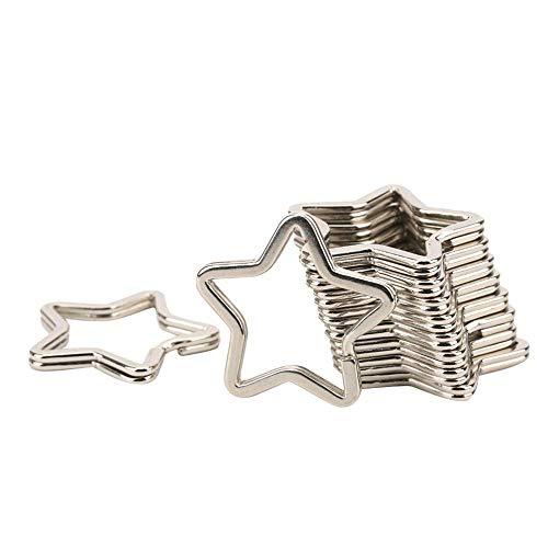 10 piezas de metal llavero conector de gancho de anillo DIY