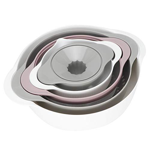 Yivibe Colador de cesta, cesta de filtro, diseño antideslizante para jugo de cocina y hogar