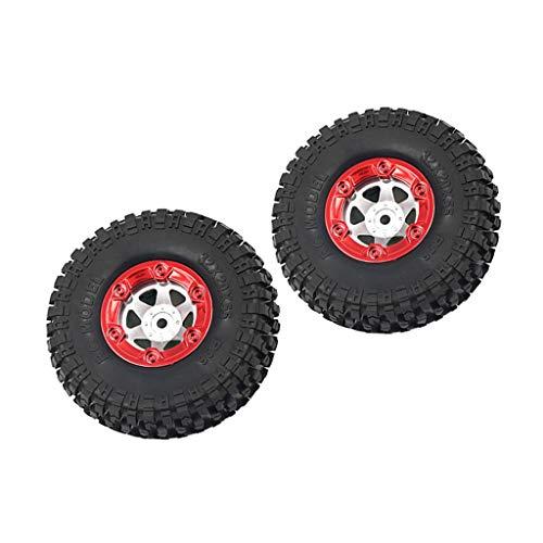 chiwanji 2X Neumáticos de Goma Y Piezas de Repuesto de Rueda para El Modelo Feiyue 1/12 Car Racing