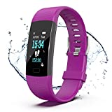Fitness Tracker, Color Screen Activity Tracker Watch with Heart Rate Monitor, Pedometer IP67...