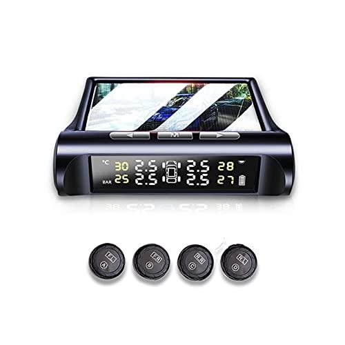 Neumático de coche Monitor de presión de neumáticos solares TPMS Monitor de presión externa Monitor de presión Detección de la presión de los neumáticos Detección de la presión de los neumáticos C240