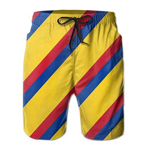 Hunter qiang Shorts de Playa con bañador clásico para Hombres con Bolsillos (Gafas de Sol Coloridas Corgi Love) M