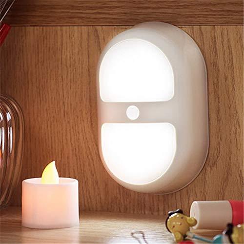 FGHHT Nachtlampje Batterij Bediende Wandlampen met 10 LED en Dual Sensor voor Trappen Badkamer Kast