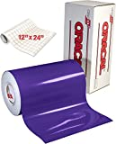 ORACAL 651 Gloss Purple Adhesive Craft Vinyl for Cameo, Cricut & Silhouette Including Free Roll of Clear Transfer Paper (12' x 6ft)