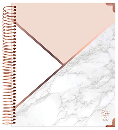 "bloom daily planners 2020 Hardcover Calendar Year Goal & Vision Planner (January 2020 - December 2020) - Monthly/Weekly Column View Agenda Organizer - 7.5"" x 9"" - Color Blocking Marble"