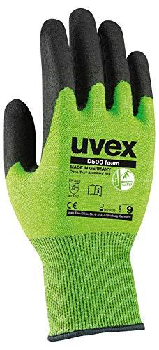 Uvex D500 Foam - Schnittschutzhandschuhe mit Grip-Beschichtung - Gr. 09/L