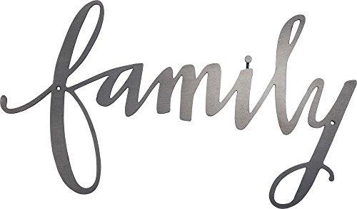 Primitives by Kathy 34224 Placa de palavras de metal com corte preciso, família