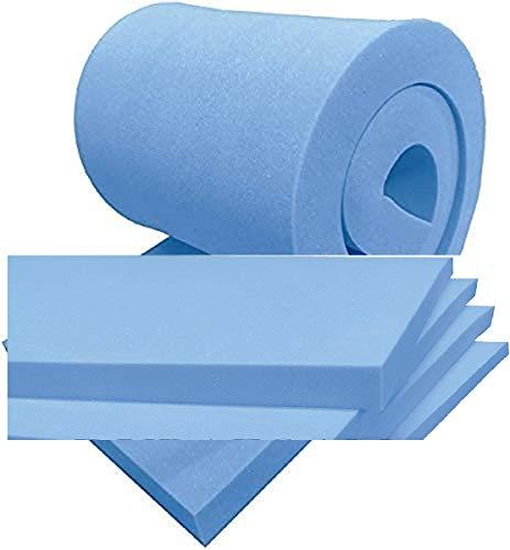 High Density Firm BLUE Upholstery Polystyrene Foam Sheet Cushions window Seat Pads Sofa dinning indoor floor mat Wheel chair Bench outdoor chair padding (40CMX50CMX3'')