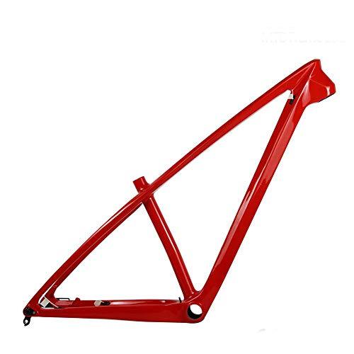 LWQ MTB Rahmen, 27.5er 29er Mountain Bike Carbon Rahmen 142 * 12mm Thru Axle MTB Carbon-Rahmen Größe 15/17 Zoll,29er 17inch Matte