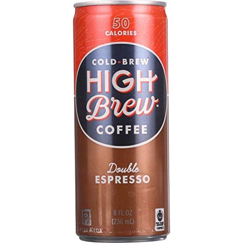HIGH BREW COFFEE - Ready to Drink - Double Espresso - 8 oz - case of 12 - Wheat Free - 50 Calories