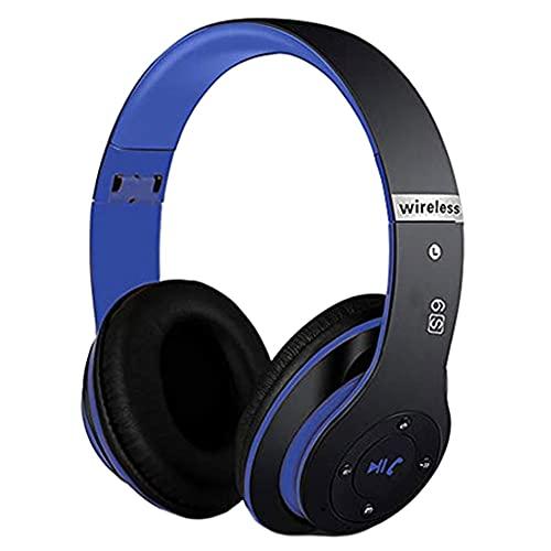 Auriculares Bluetooth Auriculares de cancelación de Ruido Estereophone Inalámbrico Auriculares Plegables Control de botón sobre Oreja Estéreo Ruido Cancelación Auricular Azul Negro Azul para teléfono