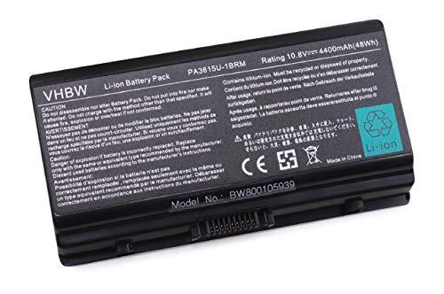 vhbw Batterie 4400mAh pour Ordinateur Notebook Toshiba Equium L40,Satellite L40, L45, Satellite Pro L40.Remplace: PA3615U-1BRM, PA3615U-1BRS, PABAS115