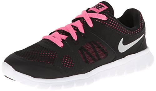New Nike Girl's Flex 2014 Run Running Shoes Black/Pink 12