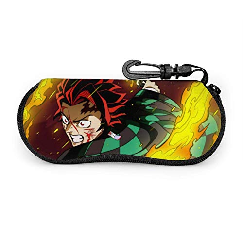 Demon Glasses Case Waterproof with Carabiner for Safety Glasses with Zipper,Portable Sunglasses Soft Case,Belt Clip